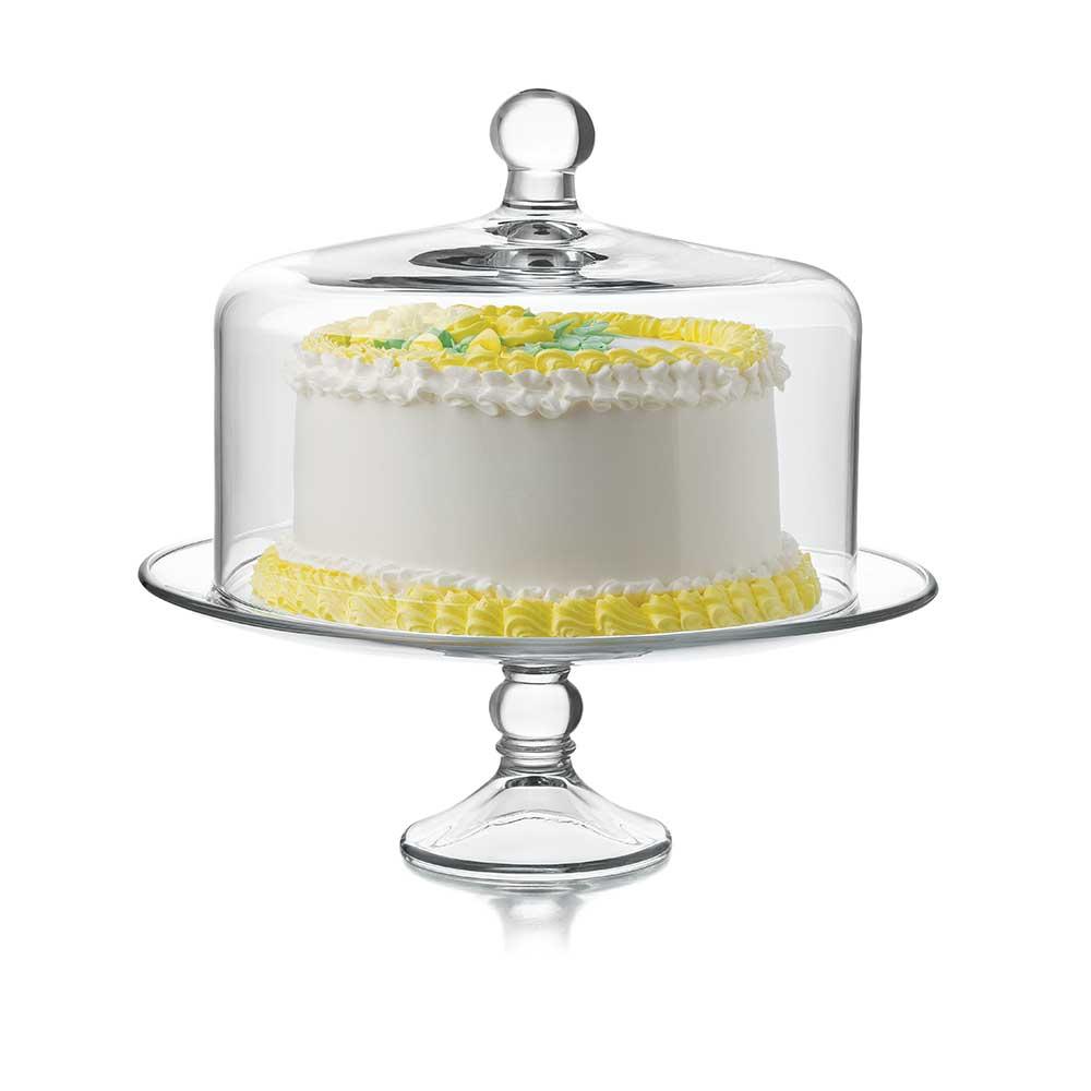 cake platter yellow