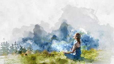 power of meditation image